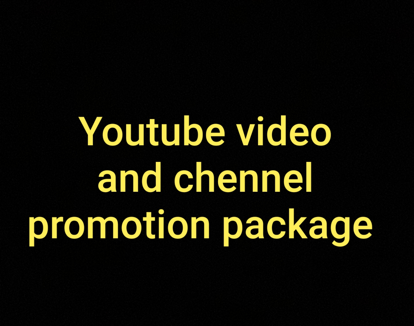 Organic non drop video and channel promotion