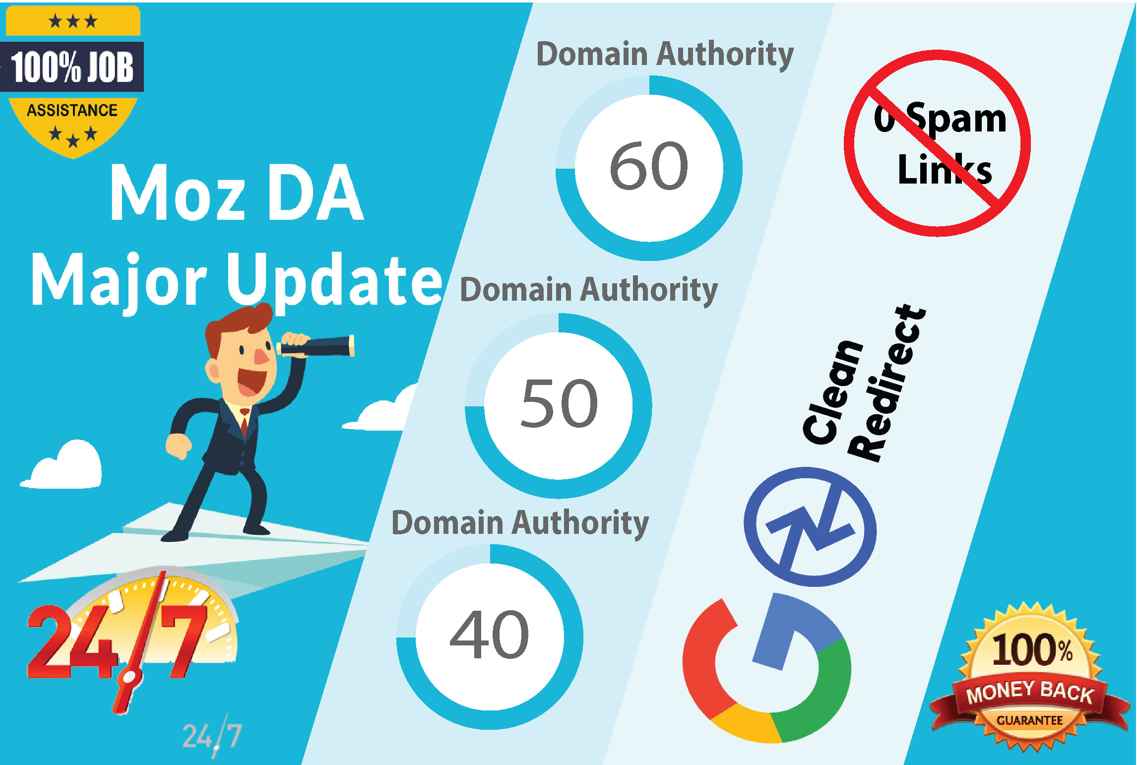 I will increase Moz DA Domain Authority 50 plus