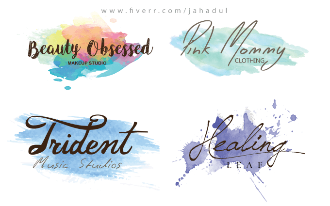 Design a watercolor signature logo