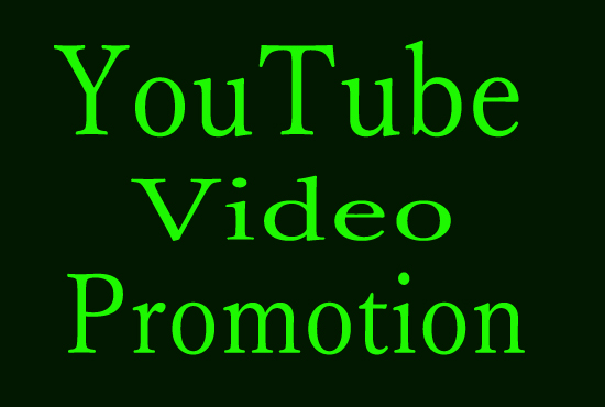 i Will derive Your YouTube video fast promotion
