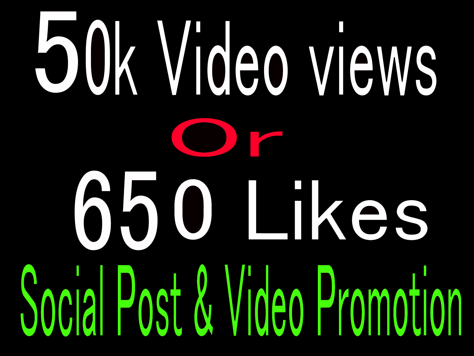 Instantly High Quality 50k video views 650+ Likes promotion,Social media Marketing