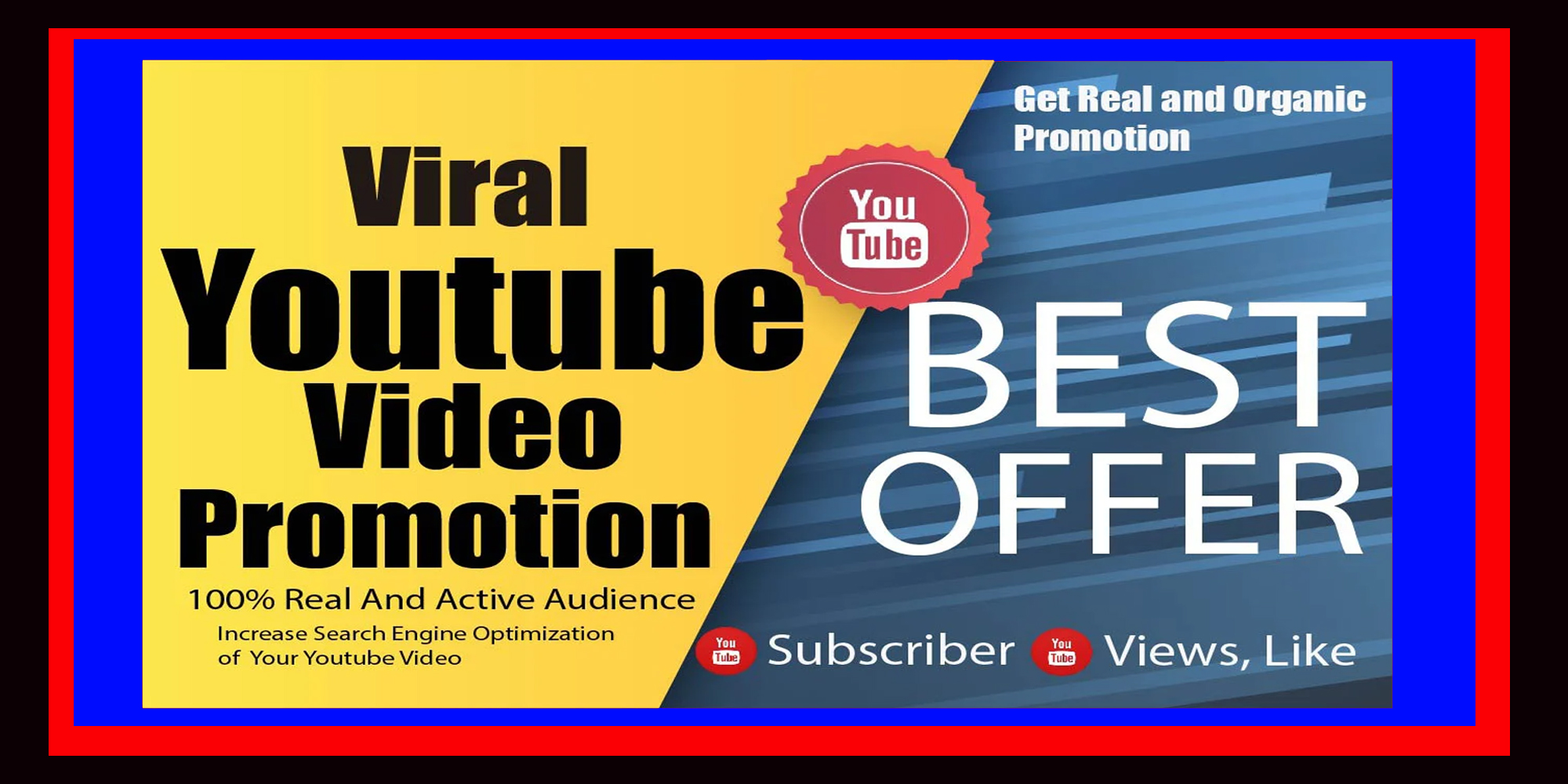INSTANT START NON-DROP & HIGH-QUALITY YOUTUBE VIDEO PROMOTION 1 TO 7 HOURS  DELIVERY for $3