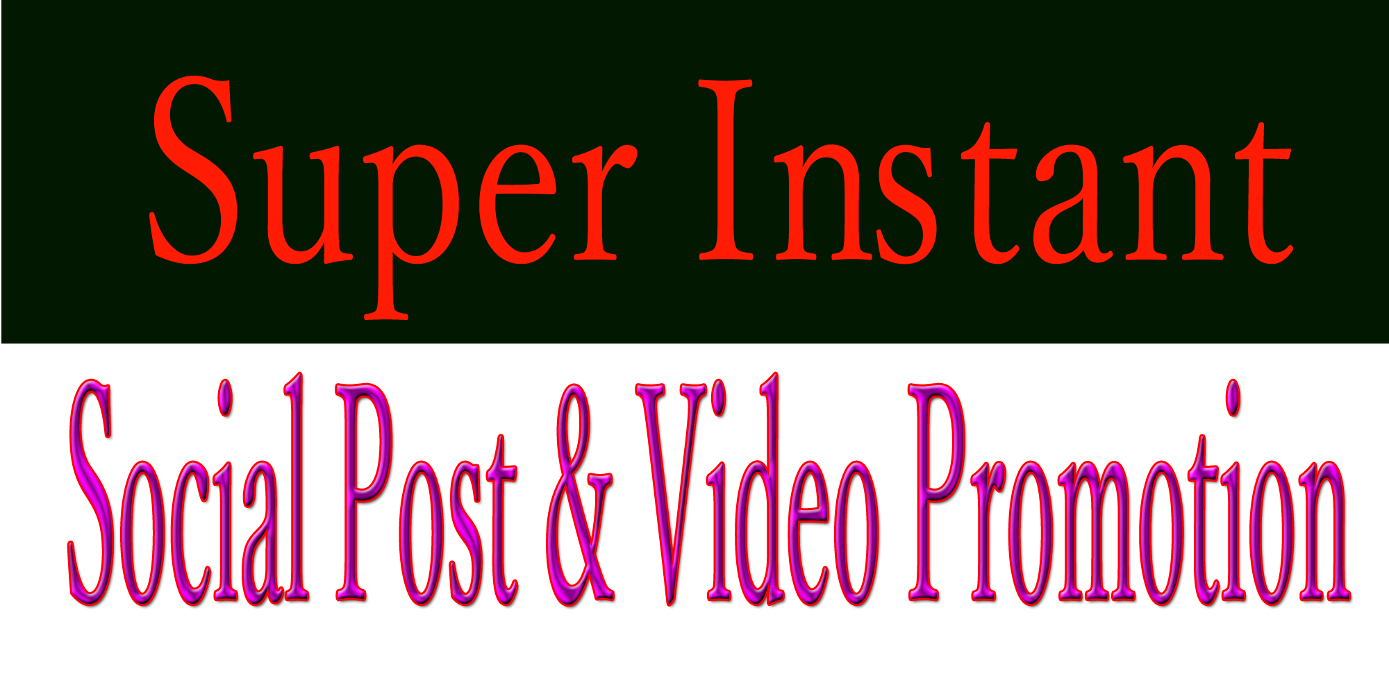 Instant social post or video promotion in 3 hrs