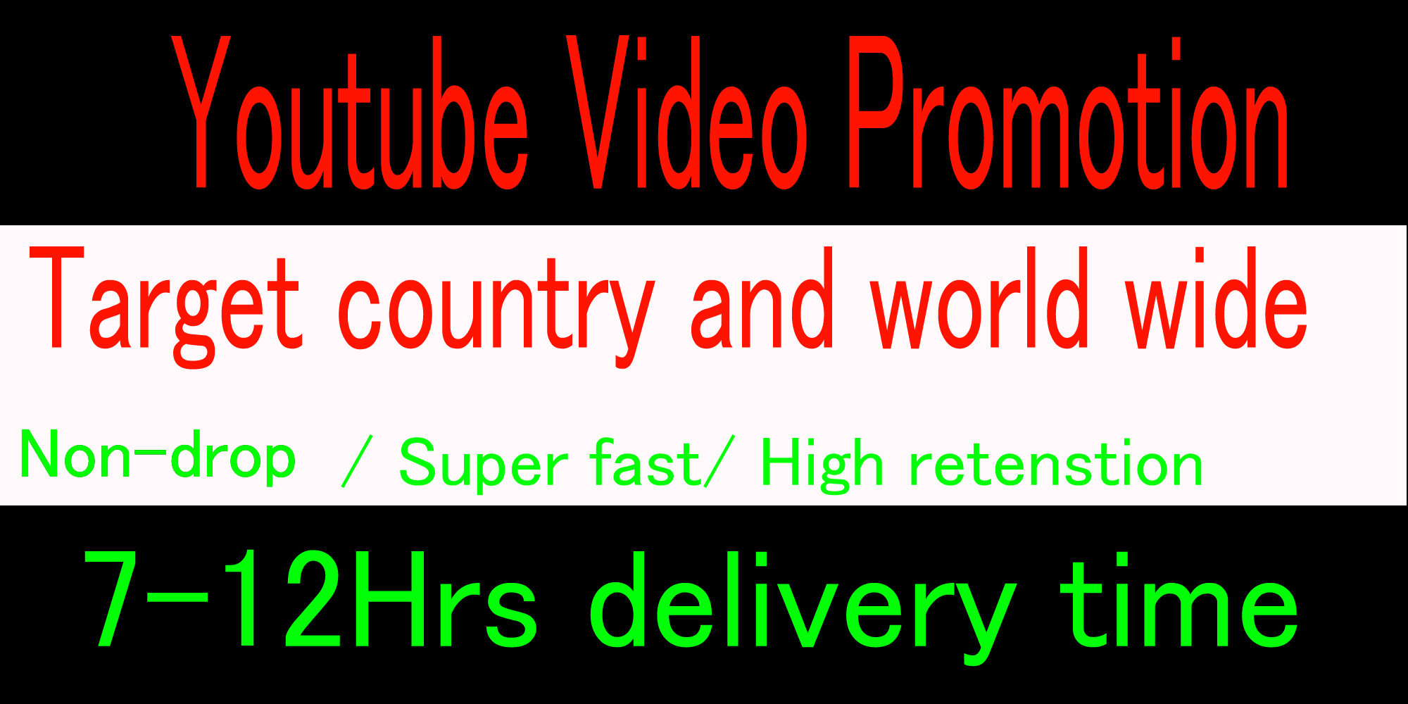 Life time Organic High retention Youtube music video promotion from USA, UK, Italy, Canada,  australia.