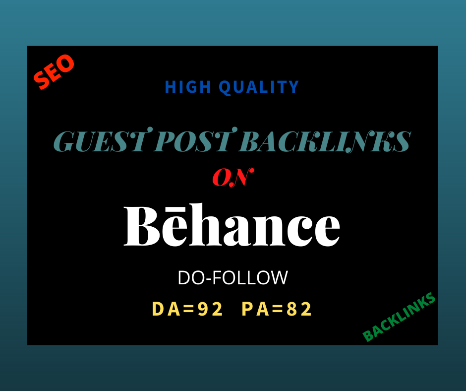 I will provide you high quality SEO guest post backlinks DA 92