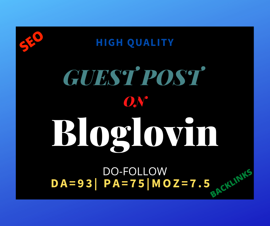 I will provide you high quality SEO guest post backlinks DA 93