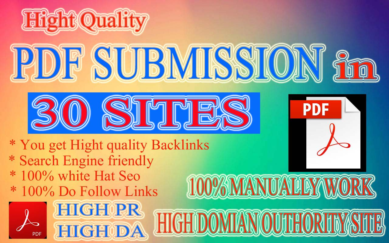 PDF Submission to 0 Document sharing Site for quality Backlinks