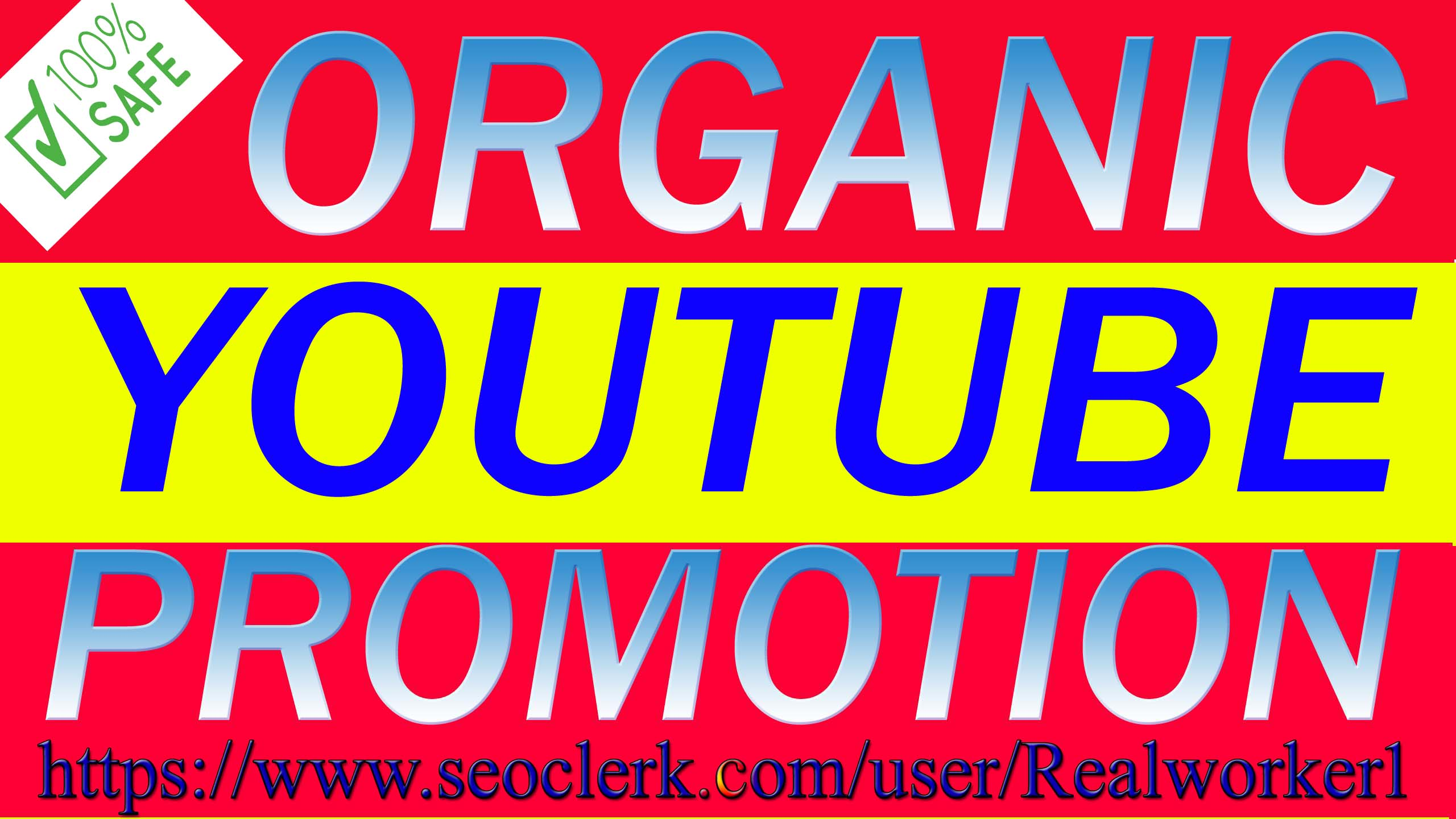ORGANIC YOUTUBE VIDEO AND CHANEL PROMOTION VAI REAL AUDIENCE