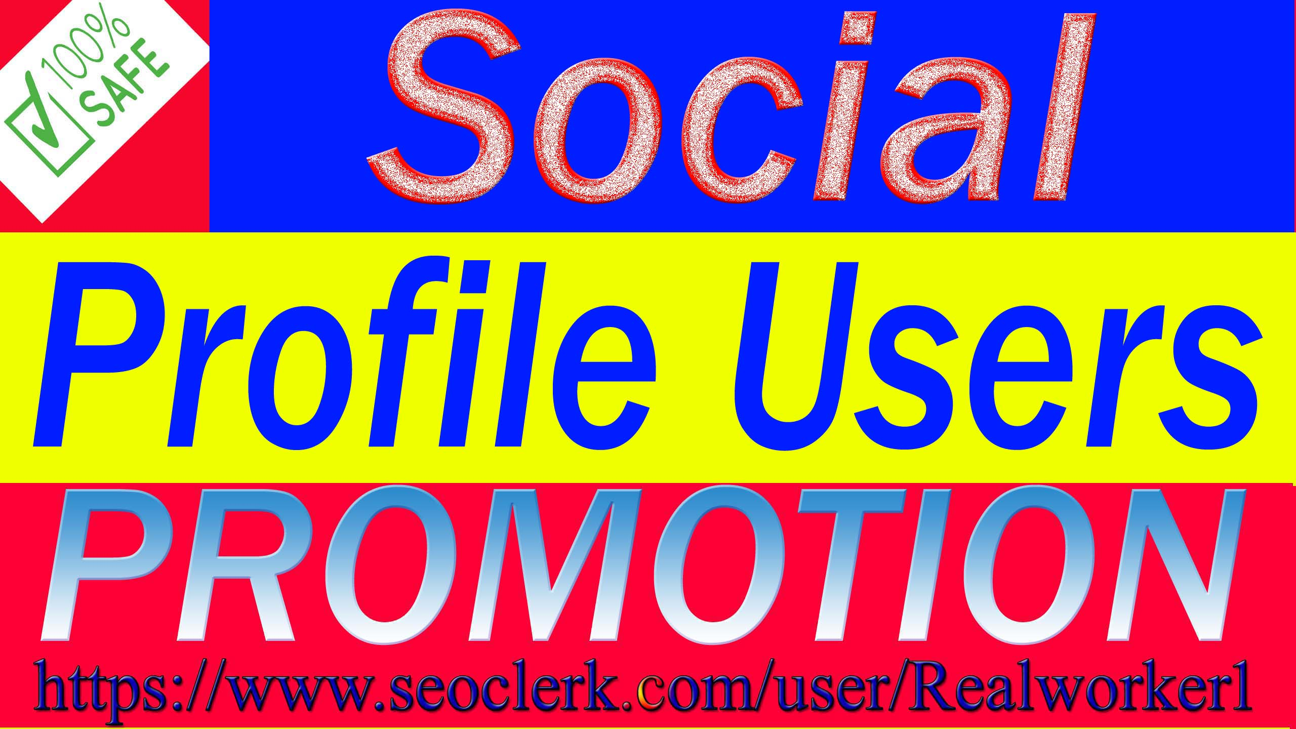 I will Do Super Fast Social Profile Promotion High Quality
