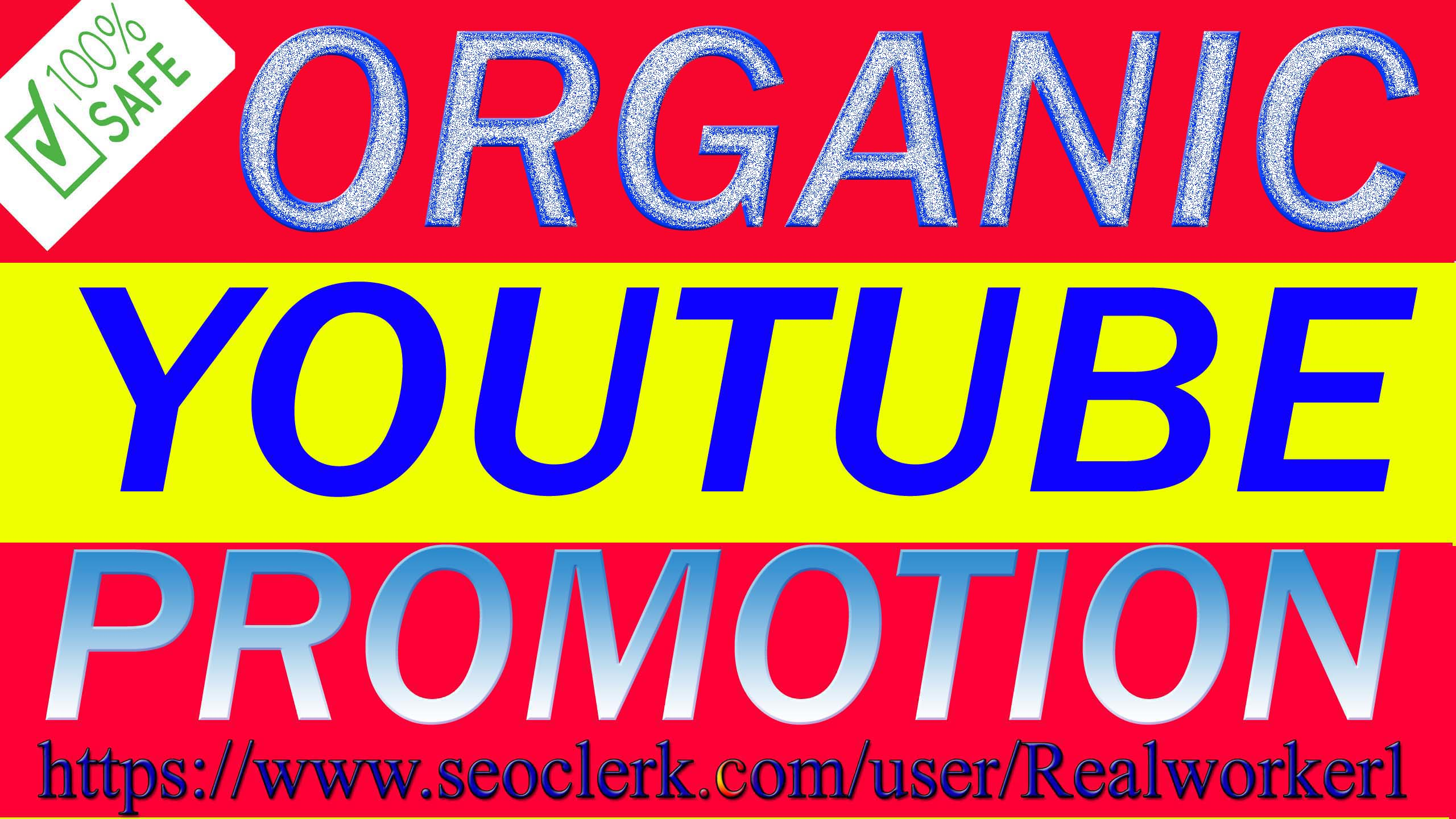 We Will Do Quick YouTube Video & Chanel Promotion Via Real Audience