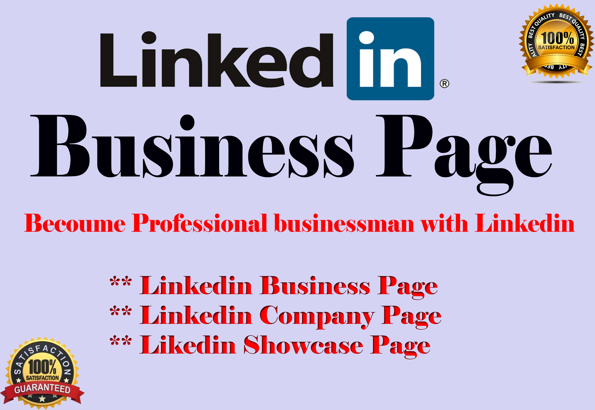 Create LinkedIn business page and company page