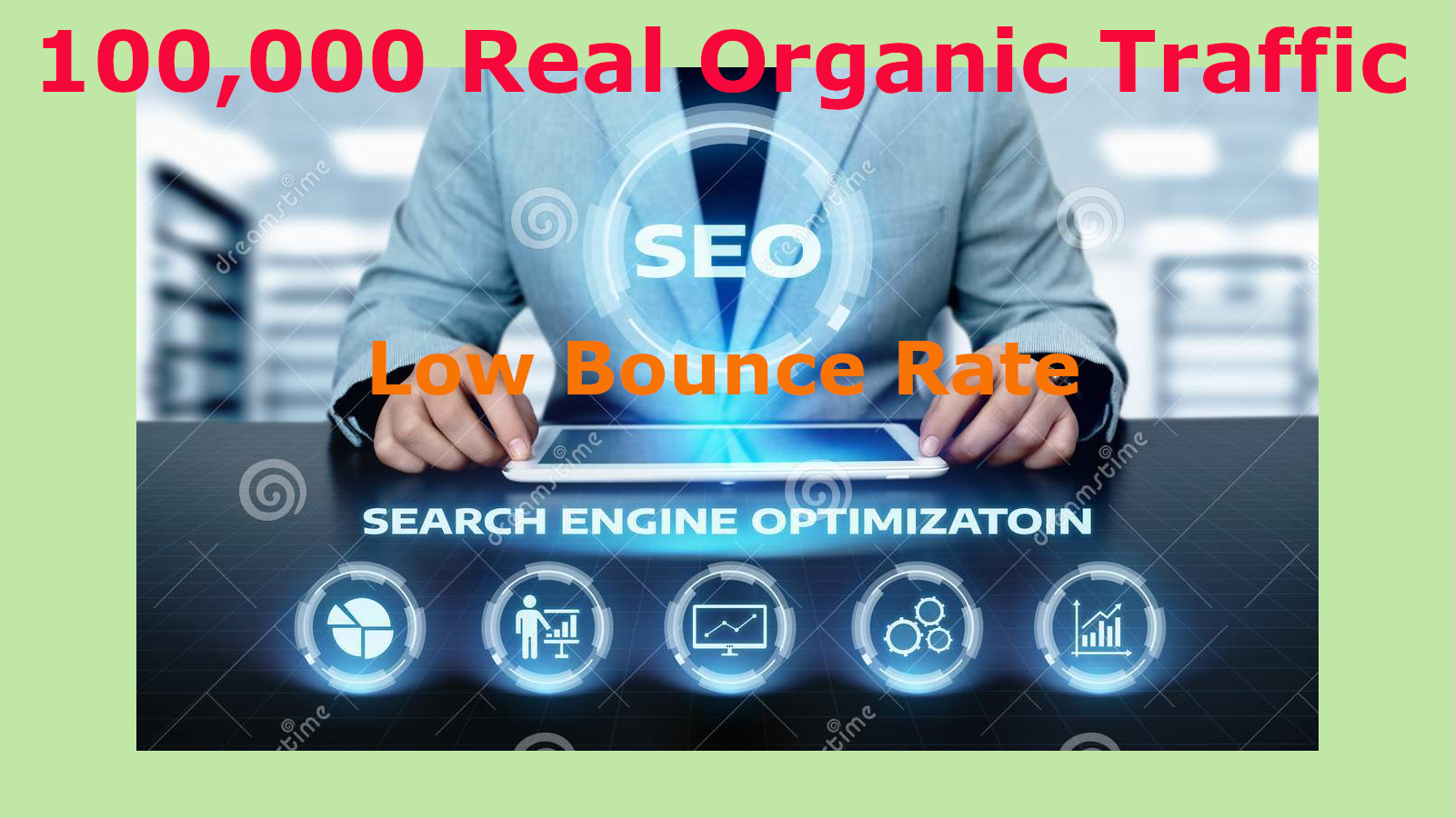 100,000 Real Organic Traffic On Your Website Or Blog
