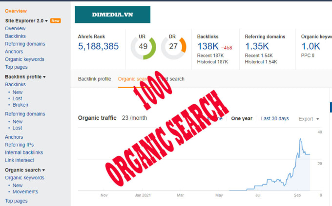1000 real google search traffic to your websites