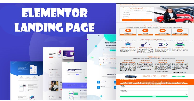 I will create WordPress landing page design by Elementor