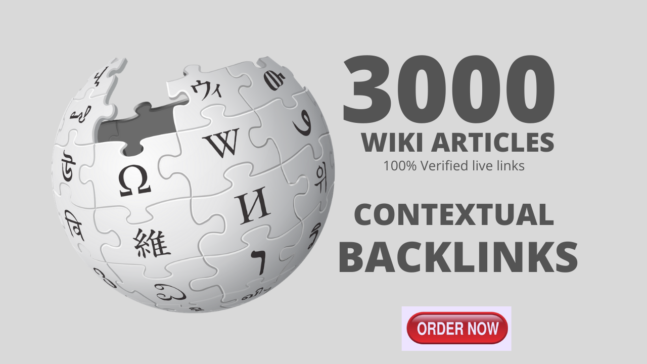 3,000 Wiki Backlinks from Wiki site