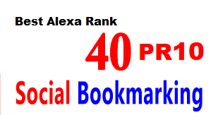 40 PR10 Social Bookmarking Backlinks get best Alexa Rank