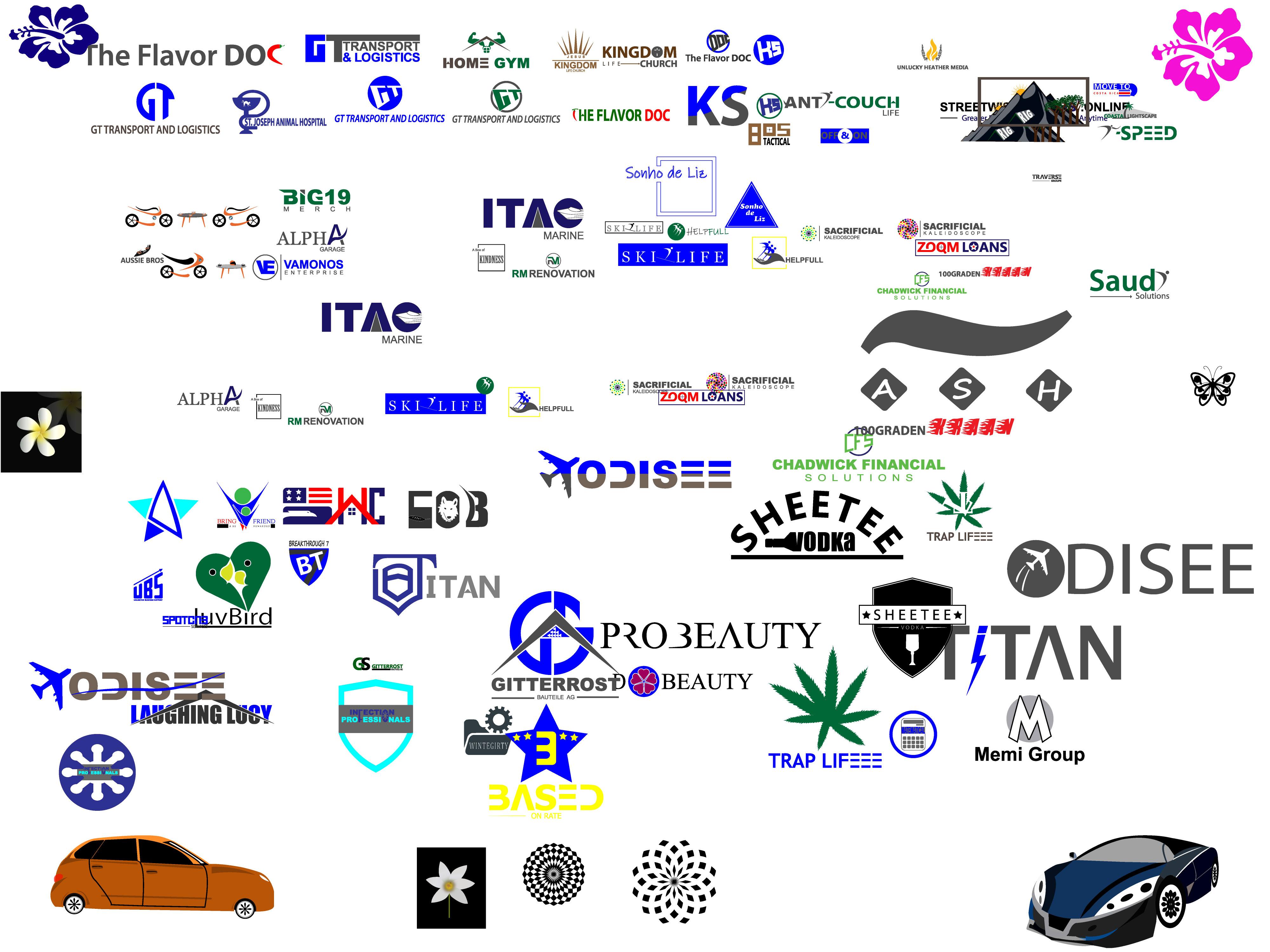 I will design creative powerful unique minimal brand logo design
