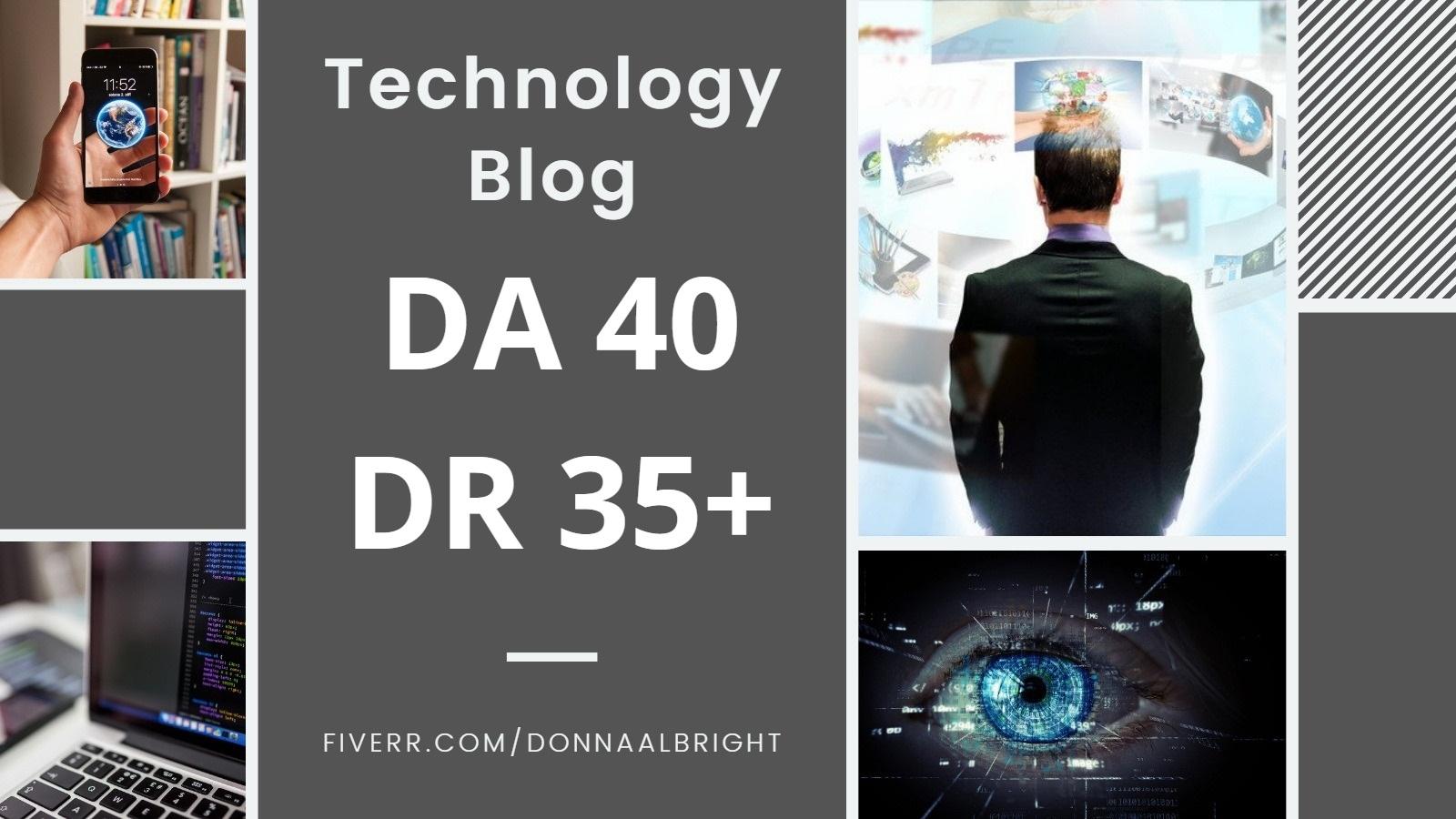 Guest Post on TECHNOLOGY blog DA 50