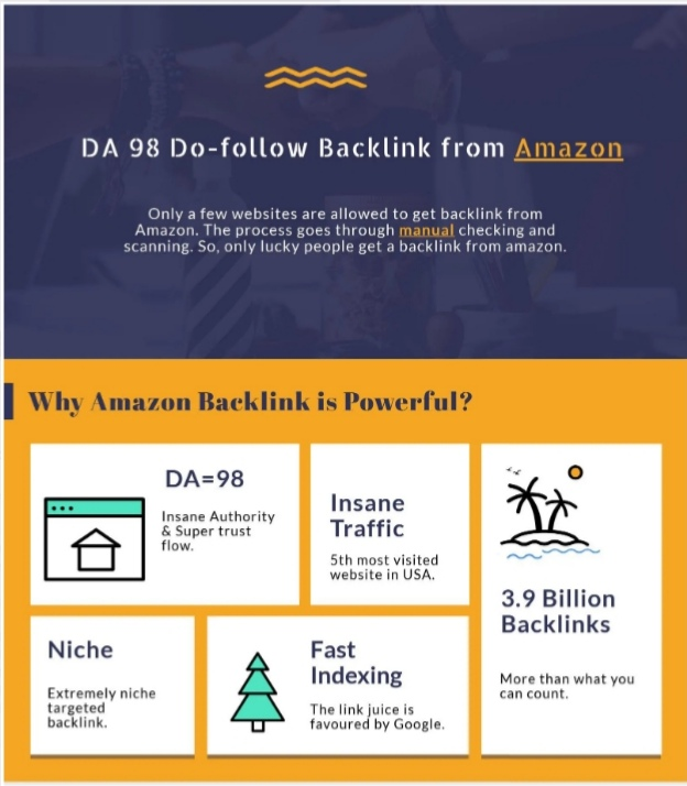 I Will Get Backlink From Amazon Da 98 Dofollow