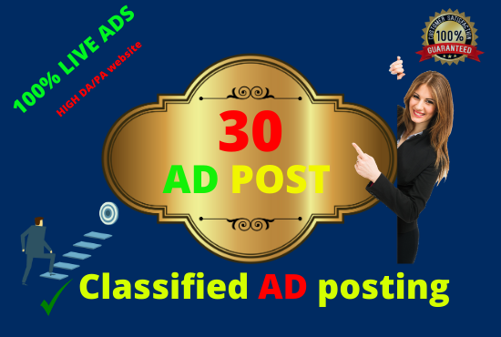Post your ad 30 ad posting sits.