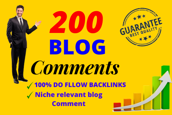 Manually Done 200 Blog Comments in high DA PA websites