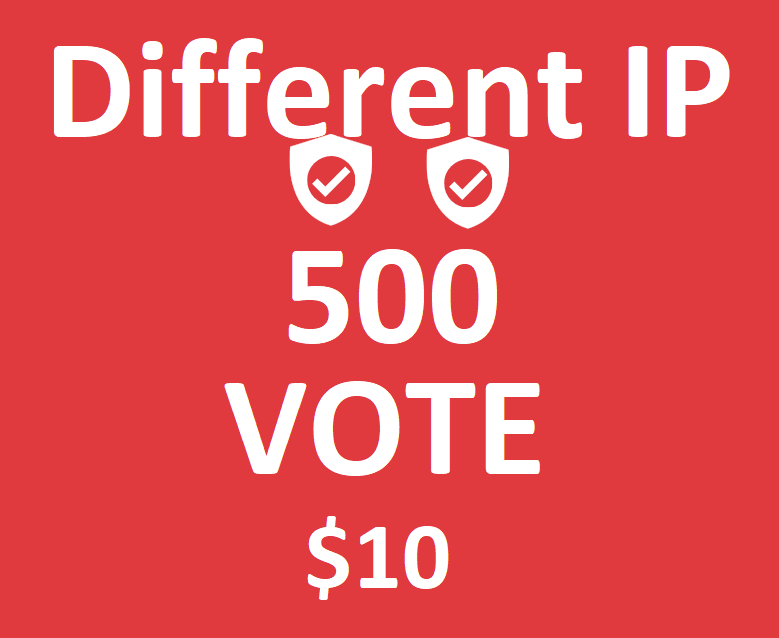 Different 500 ips votes on your online poll voting contest