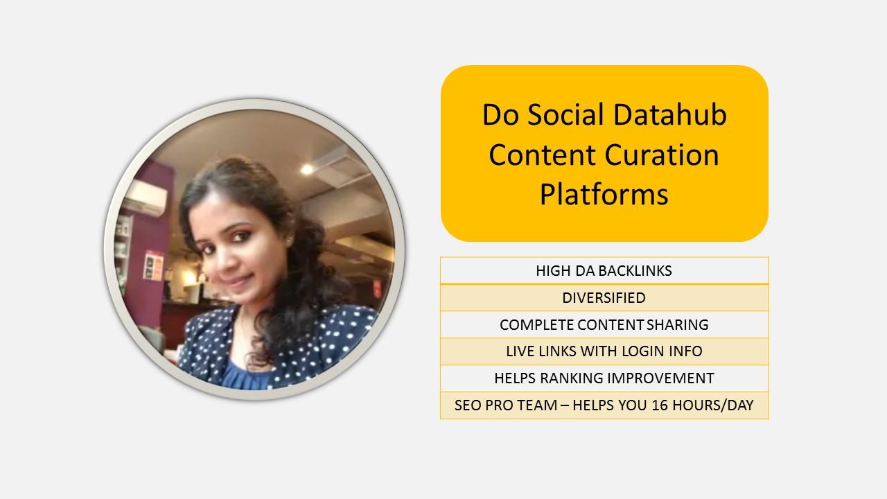 Do Social Datahub Content Curation Platforms