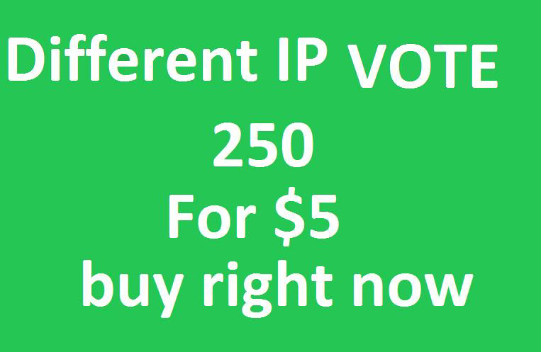 Get You 250 Different IP Votes On Your Online Voting Contest Entry Poll