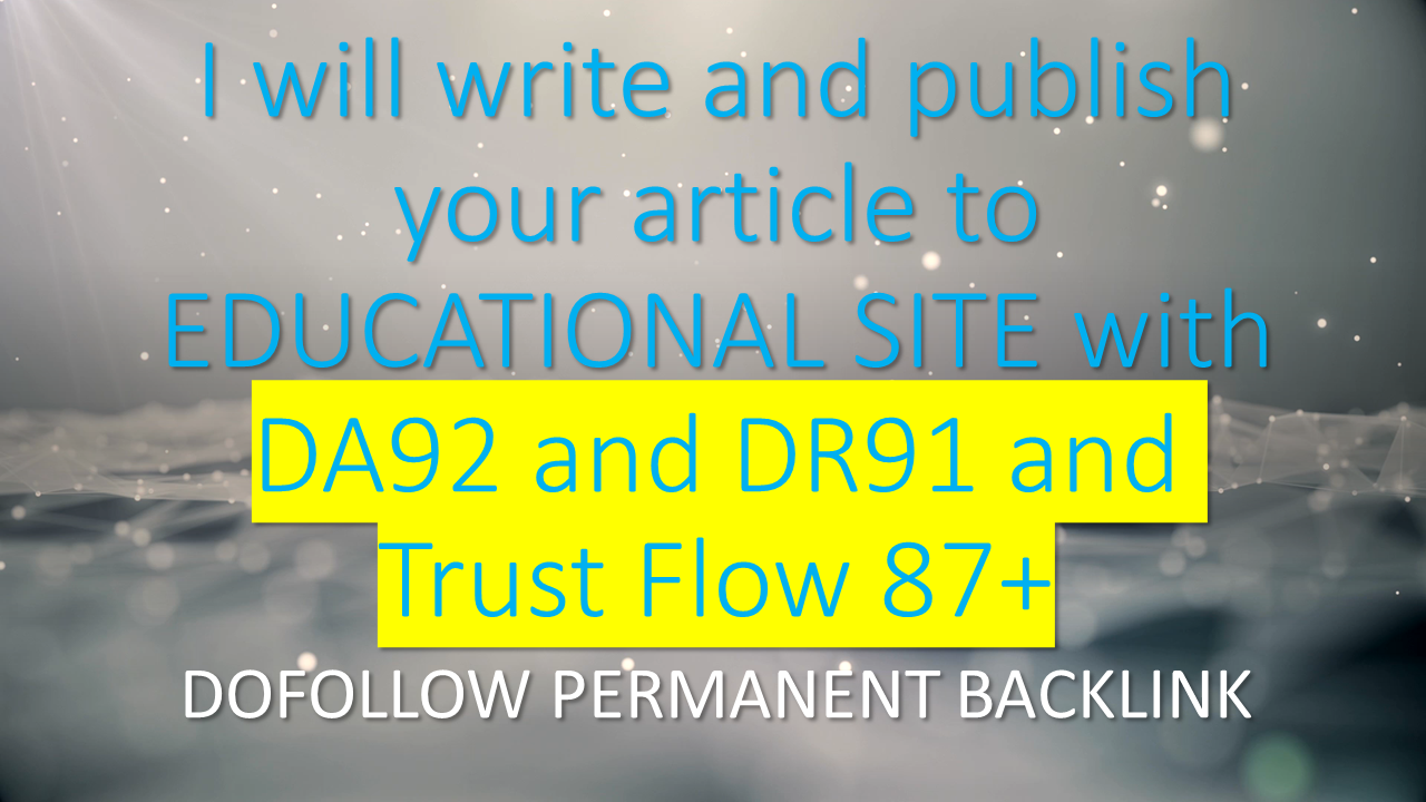 I will guest post to Educational Site with da92 and dr91 with tf87