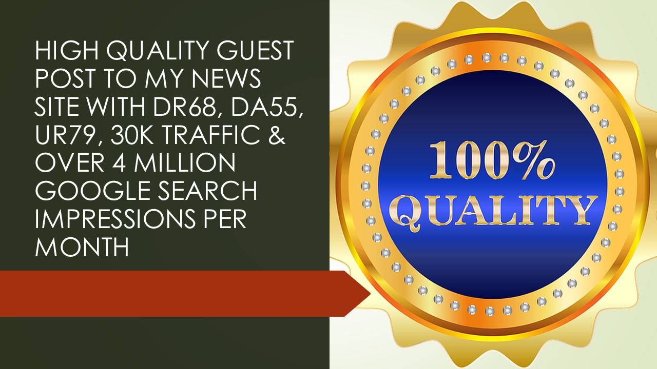 I will publish your SEO guest post on my DA55+,  DR71+& UR80+ news website