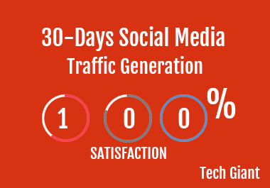 I will drive quality web traffic from social media for 1 month