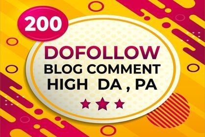 Manual 200 Dofollow Blog Comments Backlinks