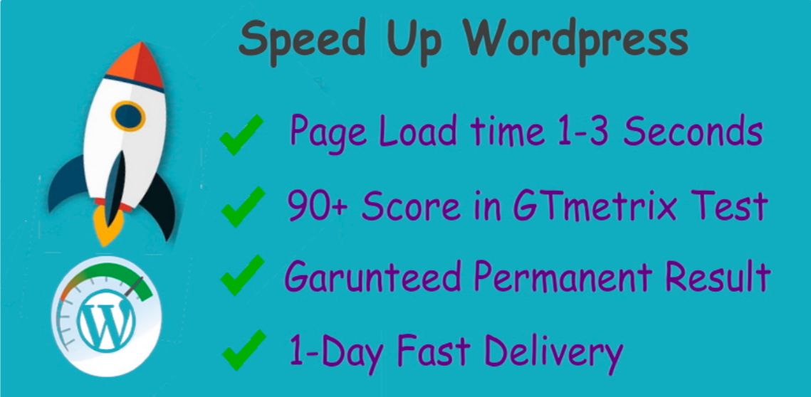 I will Optimize Page Speed and Speed Up your Wordpress Website