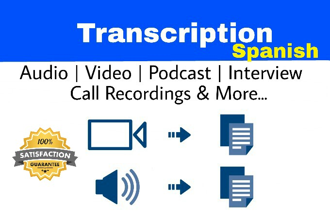 I will transcribe up to 20 minutes of Spanish audio in 24 hours
