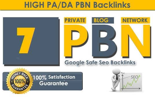 7 High Authority DA/PA PBN Backlinks