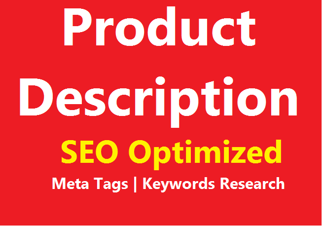 I will write SEO optimized product description