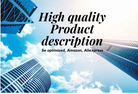 I will write high quality seo product description