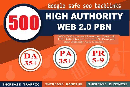 500 Permanent Home Page DA Upto 25+ PBN Links - Unique Domains
