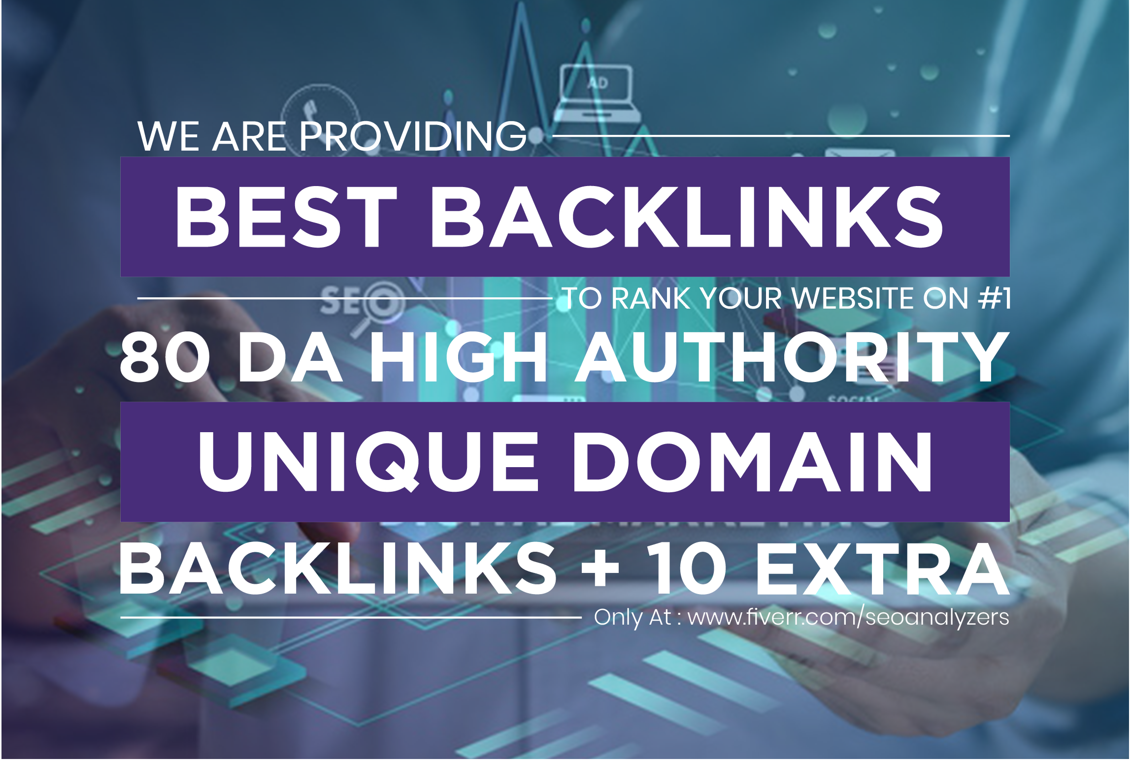 MANUALLY Do 80 UNIQUE PR10 SEO BackIinks on DA100 sites for