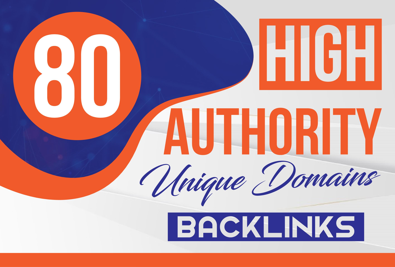 MANUALLY Do 80 DA UNIQUE PR10 SEO BackIinks on DA100 sites for
