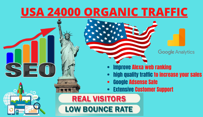 keywords targeted USA organic web traffic