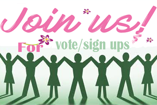 Promote your link for Email verified vote for any contest or sign ups