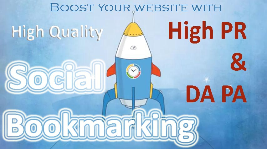 Manually create 30 Social Bookmarking Backlink in High PR & DA PA sites