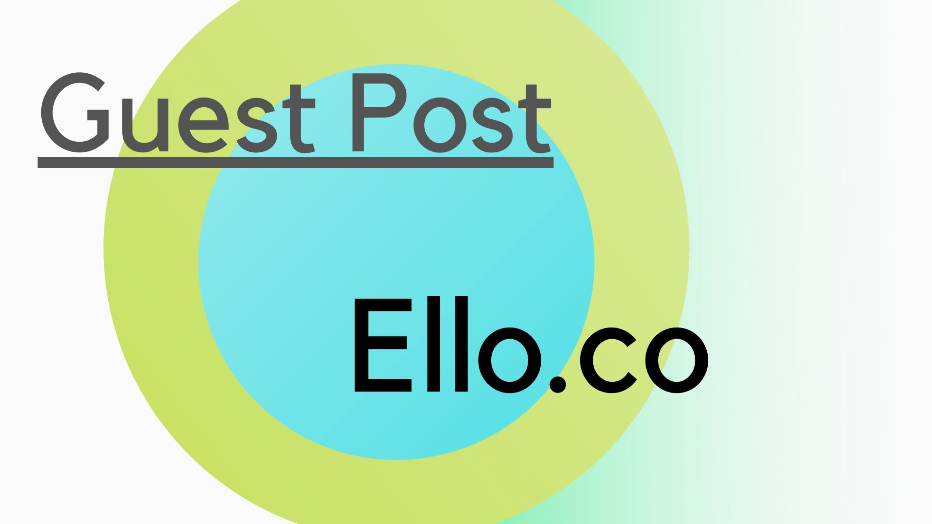 Write and guest post on Ello. co