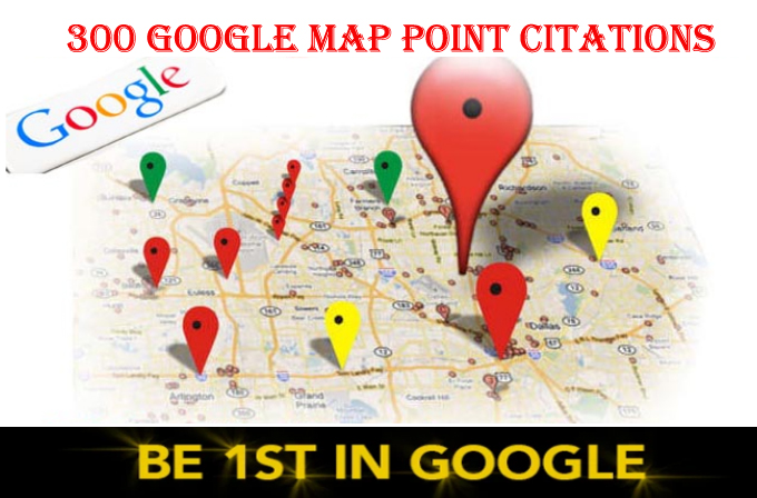 do 300 google map point citations for any country