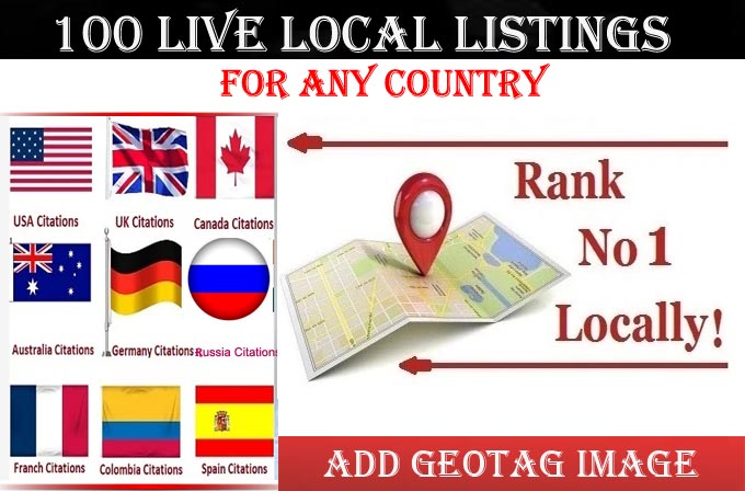 I will do 100 local listings for any country