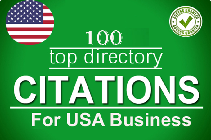 I will create 100 Local Listings for USA Local Business ranking