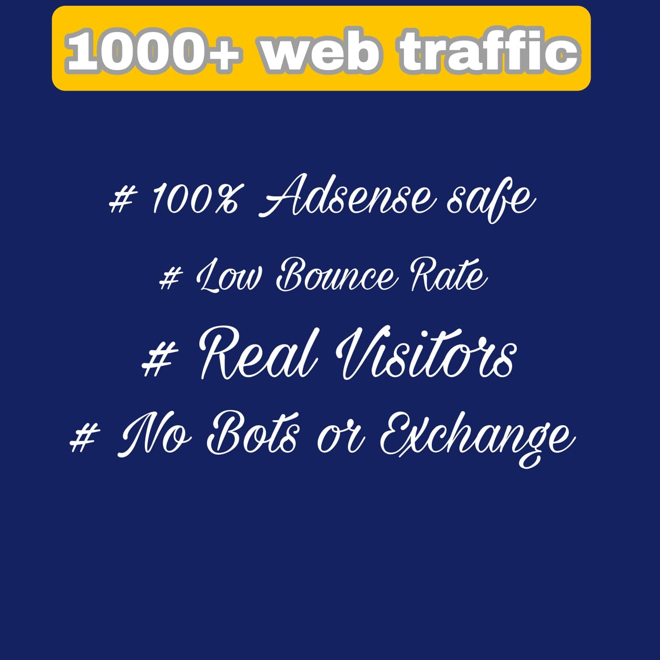 5000+ real human visitors from google,  yahoo,  facebook,  instagram,  twitter