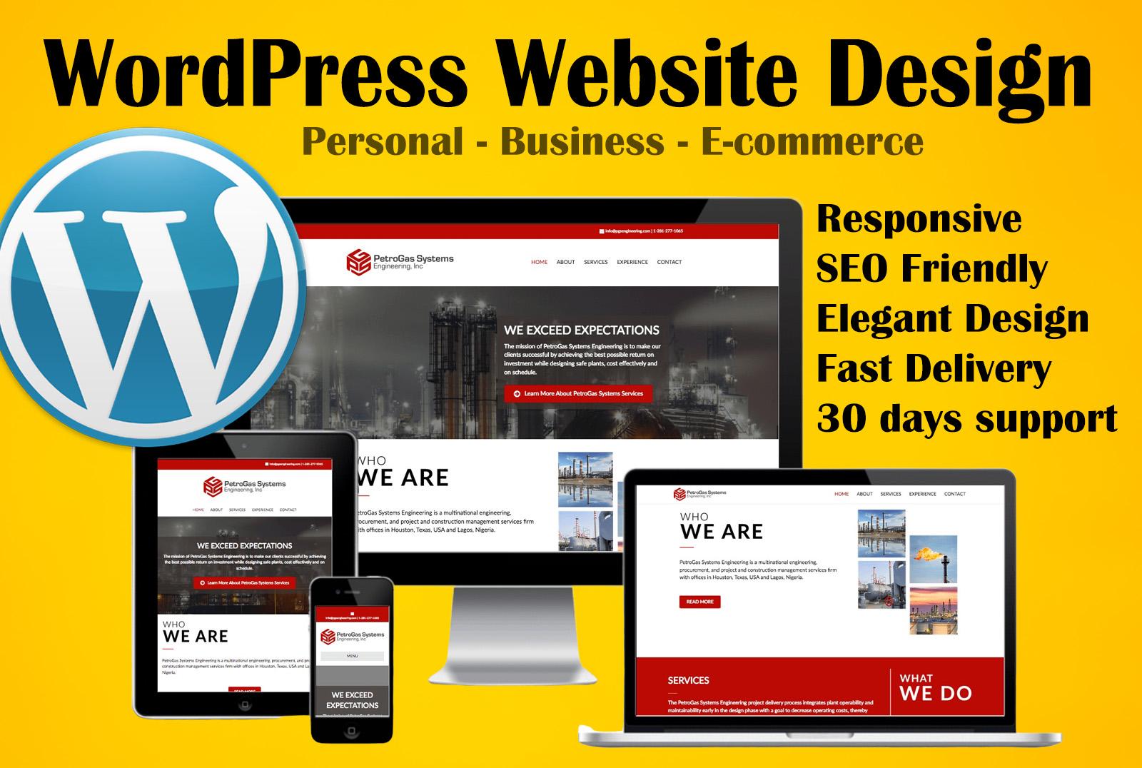 I will build wordpress website or wordpress website design