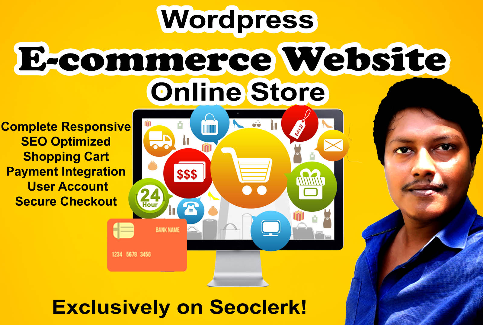 I will create wordpress woocommerce website and ecommerce website